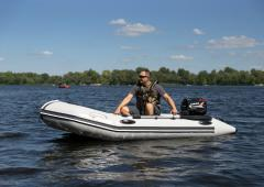 Beluga 12 FT. Light Gray Inflatable Boat